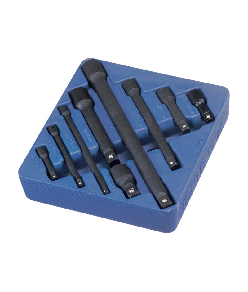 9 Piece 1/4″, 3/8″ & 1/2″ Dr. Impact Extension Bar Set Cr-V