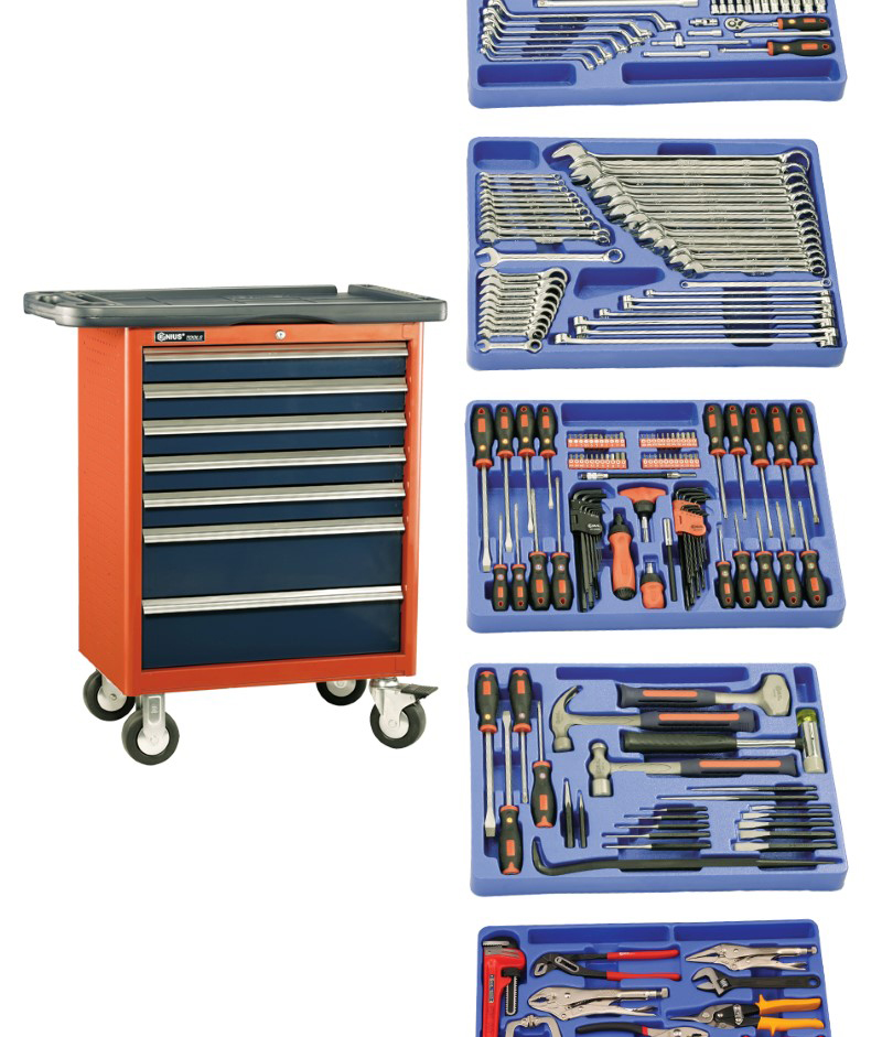 266 Piece 1/4″ & 1/2″ Dr. Metric Mechanic Tool Set