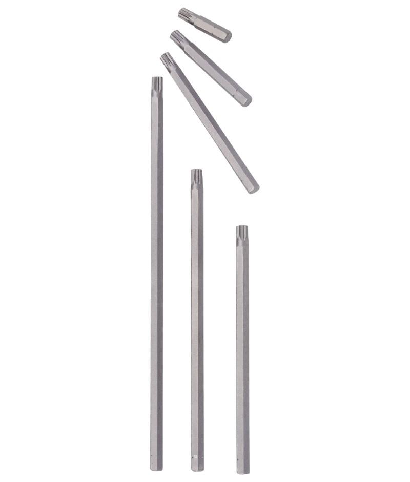 1/4″ Hex Shank, M4 Triple Square Bit 160mmL