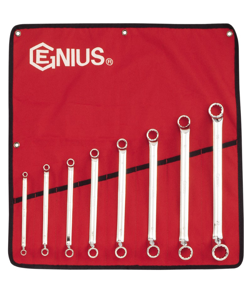 8 Piece Metric Double Ended Offset Ring Wrench Set