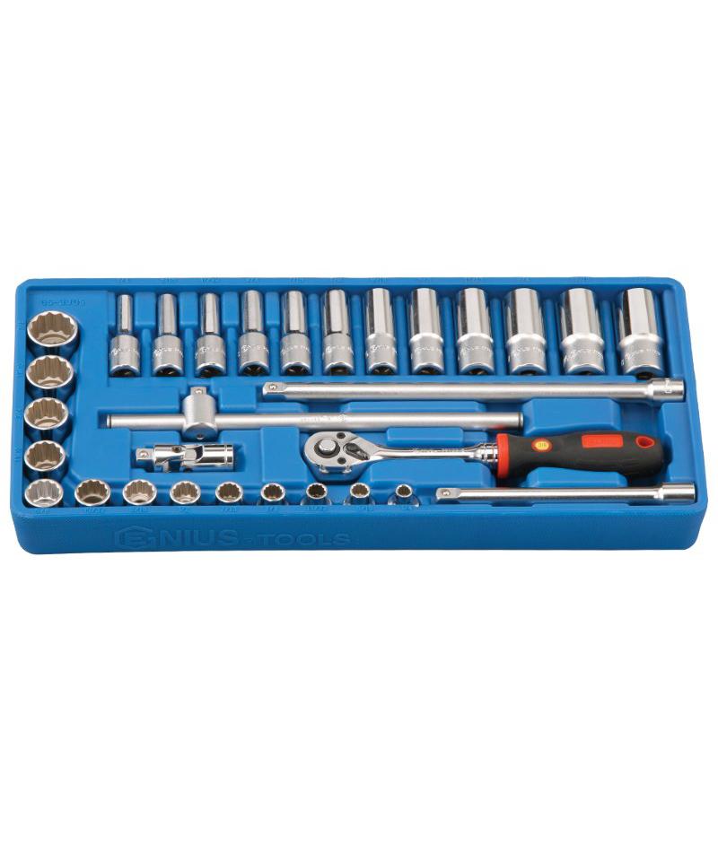 30 Piece 3/8″ Dr. SAE Deep Hand Socket Set (6 pt. & 12 pt.)