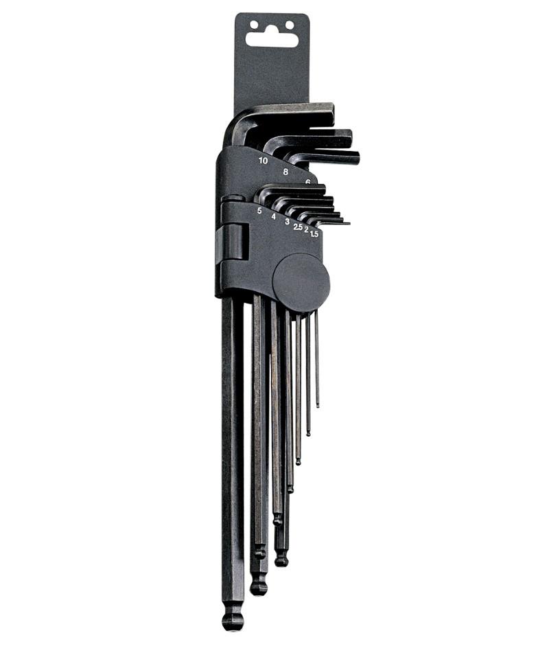 9 Piece SAE Wobble Hex Key Wrench Set