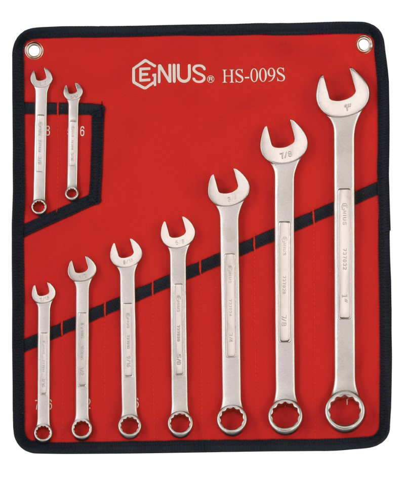 9 Piece SAE Combination Wrench Set