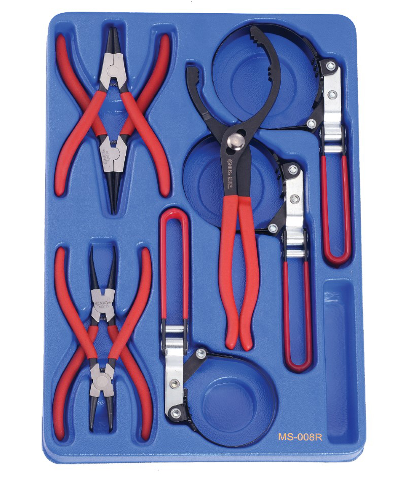 8 Piece Retaining Ring Pliers and Oil Filter Wrench Set