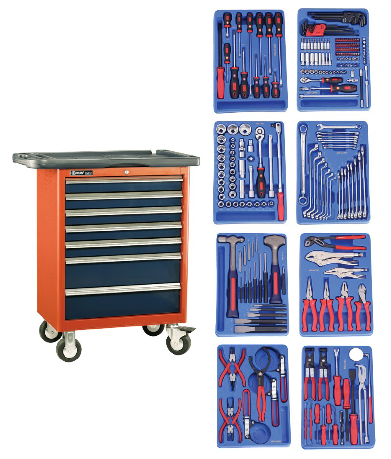 243 Piece 1/4″ & 1/2″ Dr. Metric Mechanic Tool Set