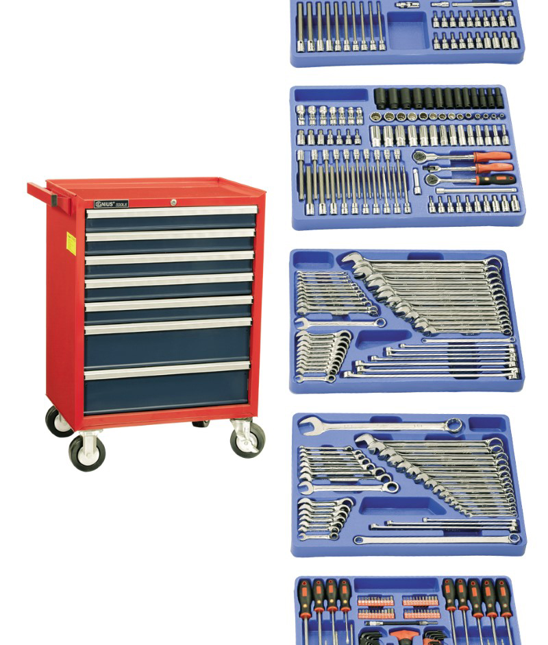 361 Piece 3/8″ Dr. Metric & SAE Mechanic Tool Set