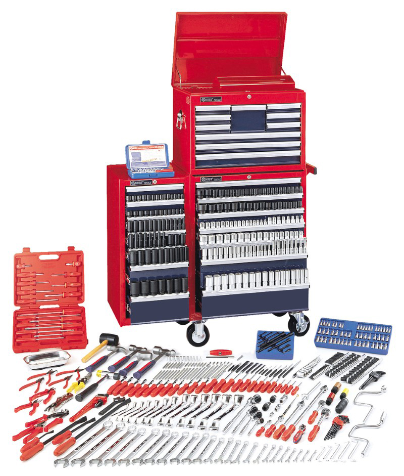 541 Piece 1/4″, 3/8″ & 1/2″ Dr. Metric Ultimate Tool Set (with Tool Chests)