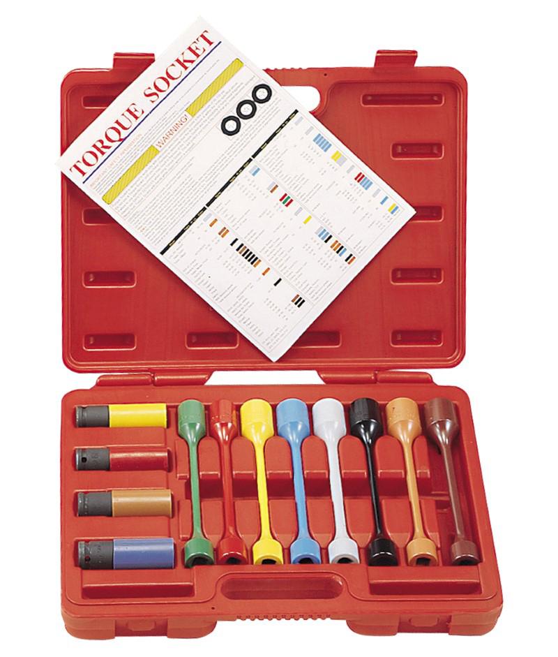 12 Piece 1/2″ Dr. Metric & SAE Car Wheel Torque Socket Set