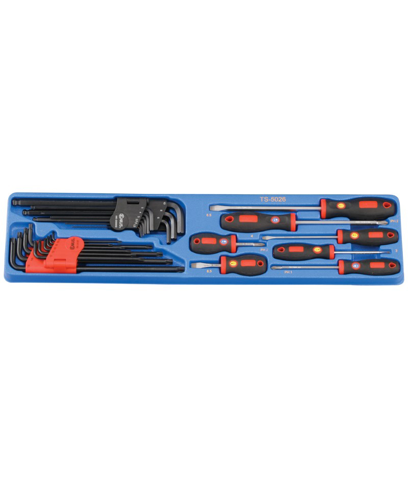 26 Piece Screwdriver & Key Wrench Set