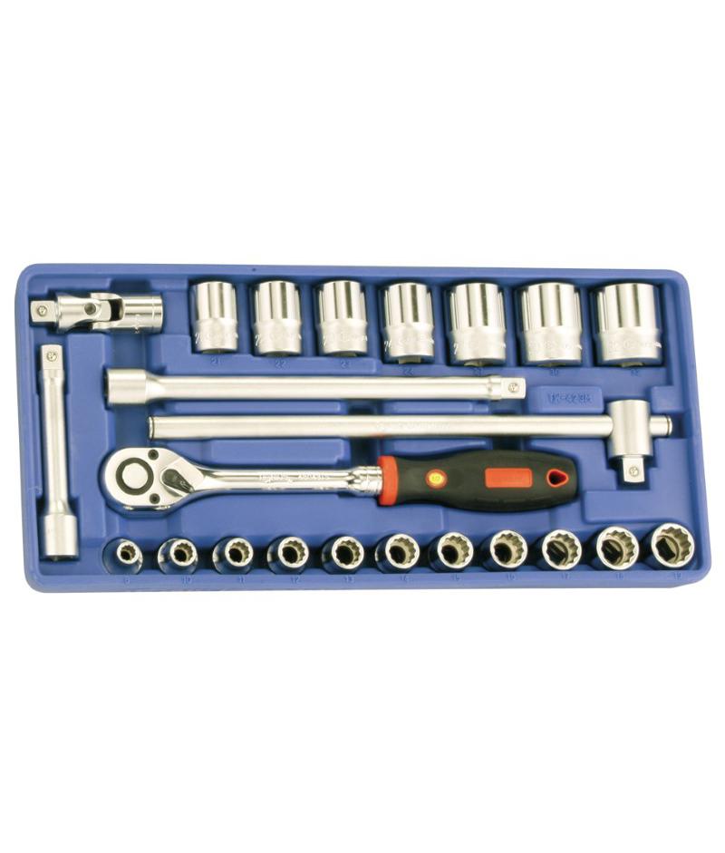 23 Piece 1/2″ Dr. 12 pt. SAE Hand Socket Set